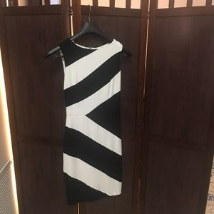 Black and White Cache Cocktail Dress- Size 4